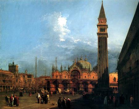 Giovanni Antonio Canal Canaletto - El Piazza San Marco, vista desde el este