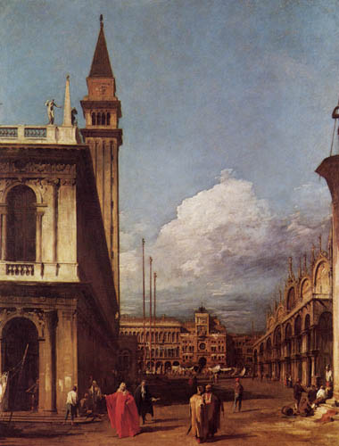 Giovanni Antonio Canal, called Canaletto - The Piazzetta from the North