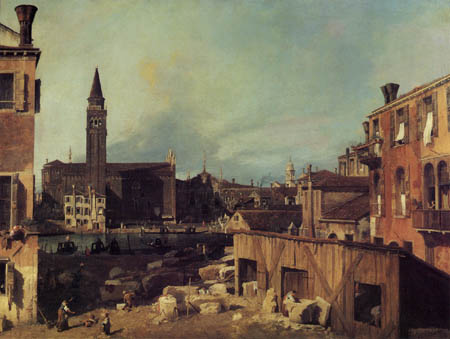 Giovanni Antonio Canal Canaletto - Le canal grand, Venise