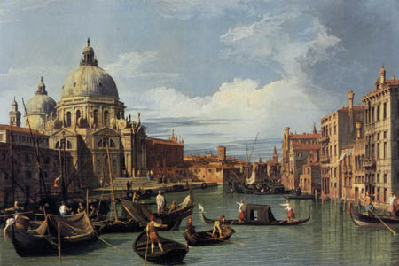Giovanni Antonio Canal, called Canaletto - Entry into the Canal Grande