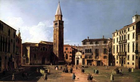 Giovanni Antonio Canal Canaletto - Campo S. Angelo