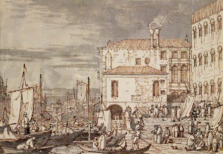 Giovanni Antonio Canal Canaletto - Le môle