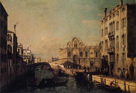 Giovanni Antonio Canal Canaletto - Rio dei Mendicanti and the Scuola di San Marco