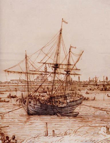 Giovanni Antonio Canal Canaletto - Une barque, détail