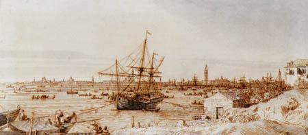 Giovanni Antonio Canal Canaletto - Vista al Venecia