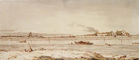 Giovanni Antonio Canal Canaletto - L'île S. Elena et Certosa