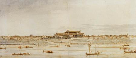 Giovanni Antonio Canal, called Canaletto - The island S. Elena