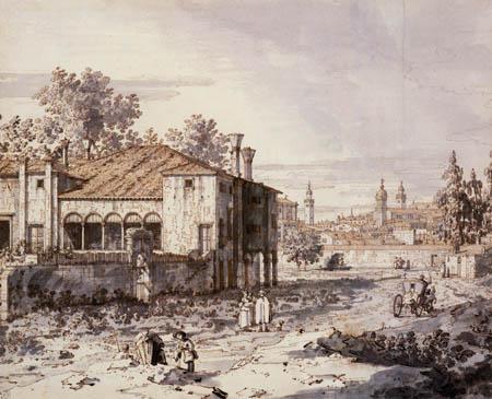 Giovanni Antonio Canal Canaletto - Hof im Vorland von Padua