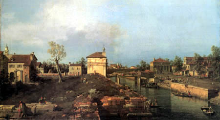 Giovanni Antonio Canal, Canaletto - Der Brenta Canal, Padua