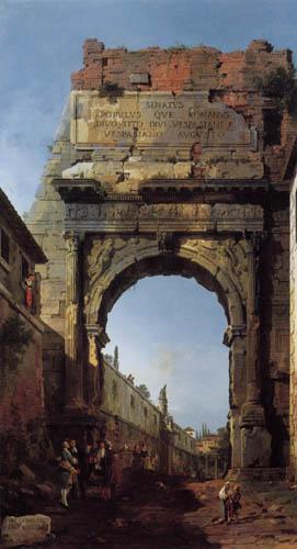Giovanni Antonio Canal Canaletto - Rom, Der Triumphbogen des Titus