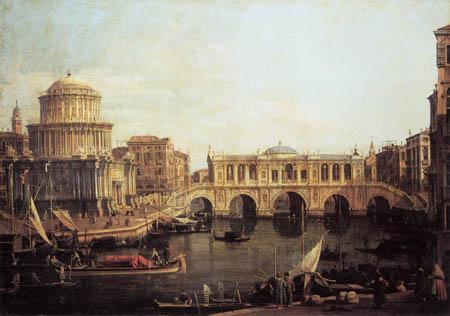 Giovanni Antonio Canal Canaletto - Caprice, Canale Grande