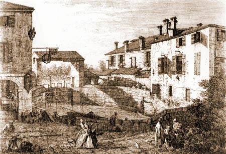 Giovanni Antonio Canal Canaletto - Porte d'écluse