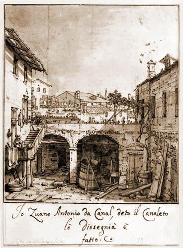 Giovanni Antonio Canal Canaletto - Häuser in Padua