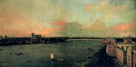 Giovanni Antonio Canal, called Canaletto - The Thames and the Westminster Bridge
