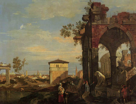 Giovanni Antonio Canal, called Canaletto - Capriccio with Ruins