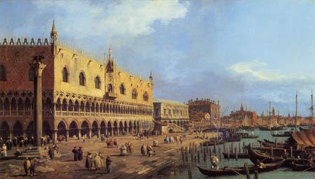 Giovanni Antonio Canal Canaletto - Riva degli Schiavoni von Ost gesehen