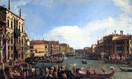 Giovanni Antonio Canal Canaletto - Une régate sur le Grand Canal