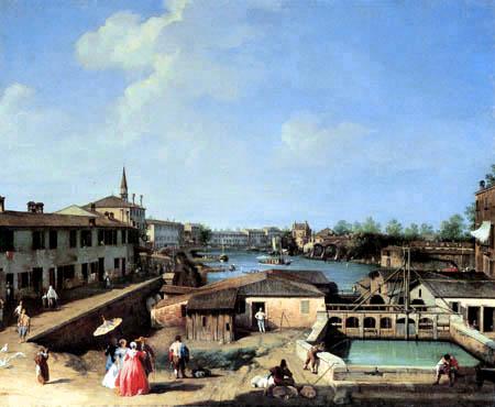 Giovanni Antonio Canal Canaletto - Dolo on the Brenta