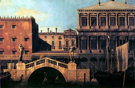 Giovanni Antonio Canal Canaletto - Caprice, Ponte della Pescaria