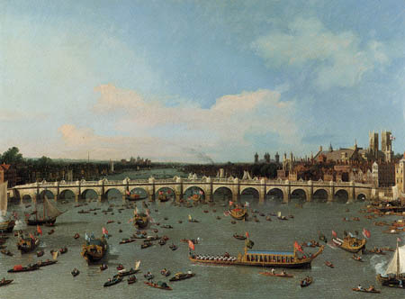 Giovanni Antonio Canal, called Canaletto - London, Westminster Bridge