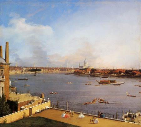 Giovanni Antonio Canal Canaletto - London, Die Themse und City vom Richmond Haus