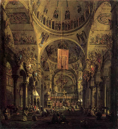 Giovanni Antonio Canal, called Canaletto - The inside of San Marco