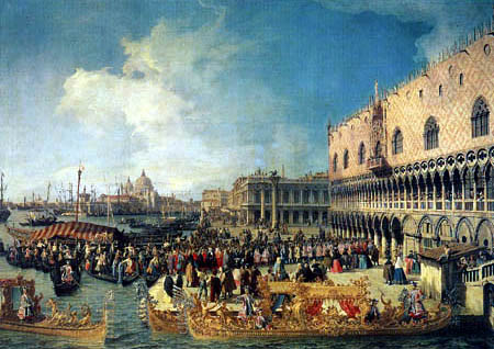 Giovanni Antonio Canal Canaletto - Arrivée à Palais des Doges