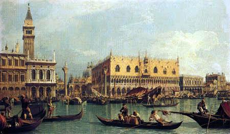 Giovanni Antonio Canal Canaletto - Palais du Doge et la Piazetta