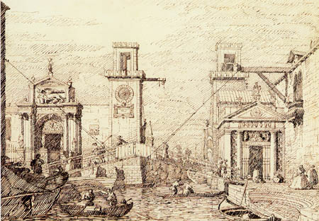 Giovanni Antonio Canal Canaletto - L'entrée d'arsenal