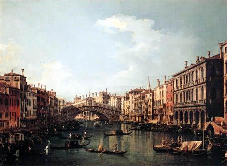 Giovanni Antonio Canal Canaletto - Le pont du Rialto du sud