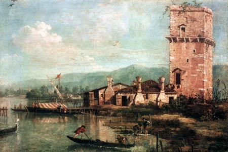Giovanni Antonio Canal Canaletto - Torre di Maghera
