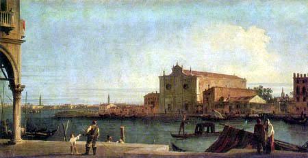Giovanni Antonio Canal Canaletto - Vista de la isla de Murano
