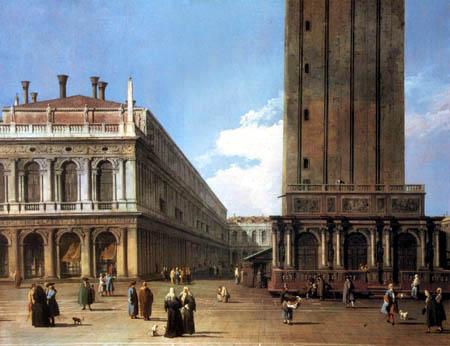 Giovanni Antonio Canal Canaletto - Vista a la Piazza San Marco