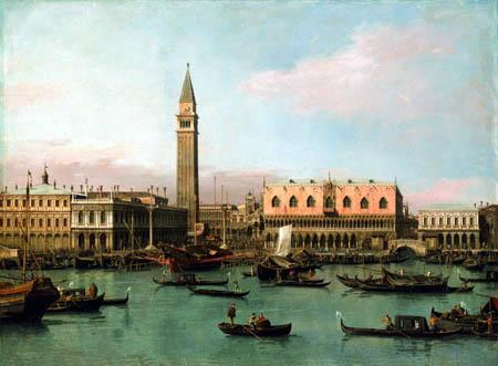 Giovanni Antonio Canal, Canaletto - Piazzetta und Bacino