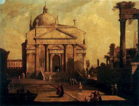 Giovanni Antonio Canal, called Canaletto - The redentore in a capriccio setting