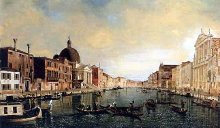 Giovanni Antonio Canal Canaletto - Vue du Grand Canal, Venise