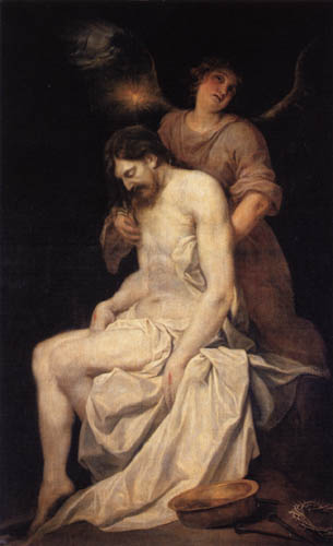 Alonso Cano - The dead Christ is supported by an angel