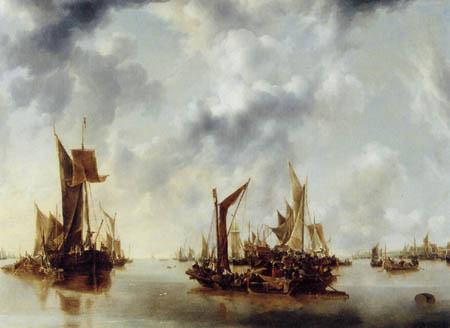 Jan van de Capelle - Ruhige See