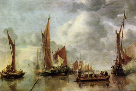 Jan van de Capelle - Salutation of the shallop