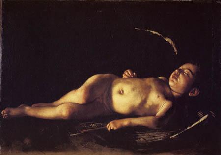 Michelangelo Merisi da Caravaggio - Le Caravage - Un ange de sommeil
