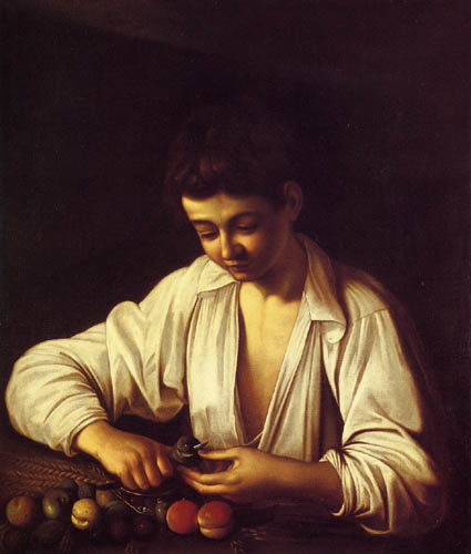 Michelangelo Merisi da Caravaggio - A Boy Peeling a Fruit