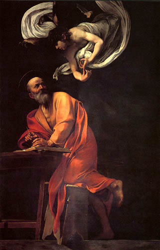 Michelangelo Merisi da Caravaggio - Saint Matthew and the Angel