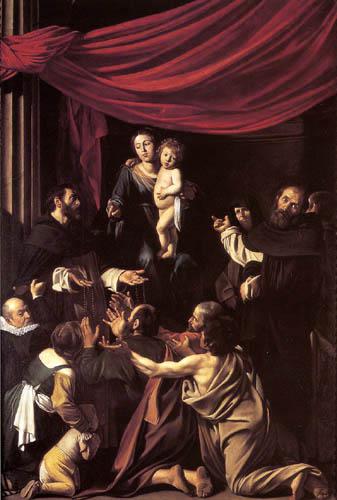 Michelangelo Merisi da Caravaggio - Madonna with the rosary