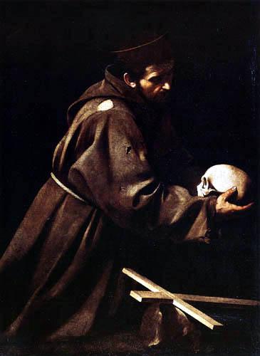 Michelangelo Merisi da Caravaggio - Der meditierende hl. Franziskus