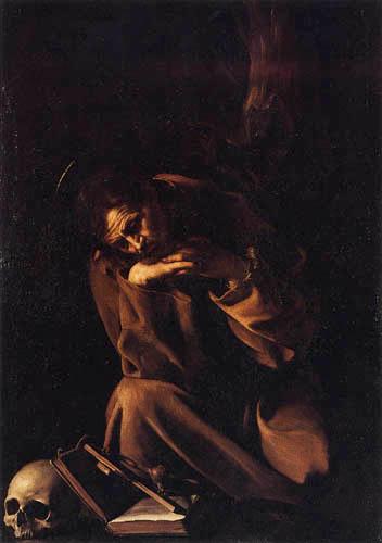 Michelangelo Merisi da Caravaggio - Le Caravage - Saint François d'Assise