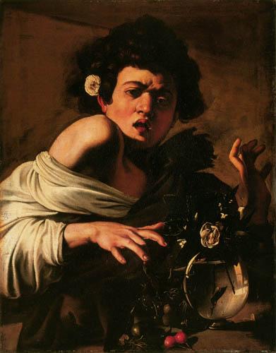 Michelangelo Merisi da Caravaggio - Le Caravage - Garçon mordu par un Lézard