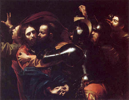 Michelangelo Merisi da Caravaggio - The capture of Christ