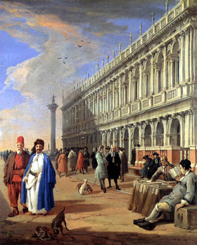 Luca Carlevaris - The Piazzetta and St. Mark's Library