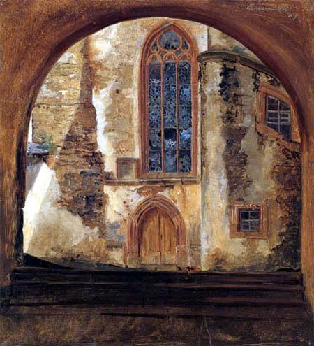 Hermann Carmiencke - At Rochsburg Castle in Saxony