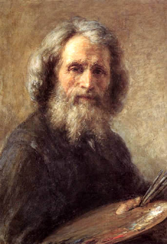 Giovanni Carnovali - Self-Portrait with a Palette